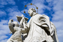 Statua di un san Immagini Stock Libere da Diritti