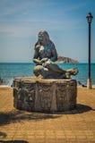Statua di una donna di Tayrona, Santa Marta, Colombia Immagine Stock