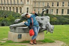 Statua di una donna nuda, Aristide Maillol fotografia stock