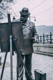 Statua di verniciatura dell'uomo immagini stock libere da diritti