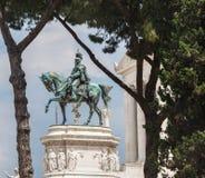 Statua di Victor Emmanuel II Fotografia Stock Libera da Diritti