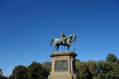 Statua di Vittorio Emanuele II a Firenze fotografia stock libera da diritti