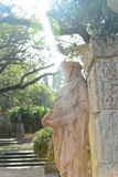 Statua di Vizcaya della villa Fotografie Stock Libere da Diritti