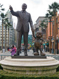 Statua di Walt e di Mickey Fotografia Stock Libera da Diritti