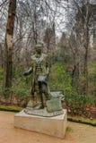 Statua di Washington Irving, Granada, Spagna Fotografia Stock