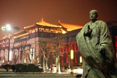 Statua di Xuan matrice Zang in metropoli Fotografie Stock