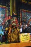 Statua di Yamantaka nel monastero di Drepung Fotografia Stock Libera da Diritti