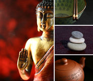 Statua di zen del Buddha Fotografie Stock Libere da Diritti
