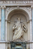 Statua di Zeus a Roma Fotografia Stock Libera da Diritti