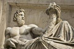 Statua divina su Capitol Hill Immagini Stock Libere da Diritti