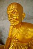 Statua dorata Fotografie Stock