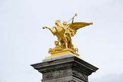 Statua dorata Fotografia Stock Libera da Diritti