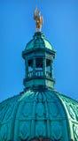 Statua dorata Buildiing legislativo Victoria Canada di Vancouver Fotografia Stock