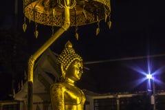 Statua dorata del buddha Fotografia Stock Libera da Diritti