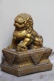 Statua dorata del cavallo del drago Immagini Stock