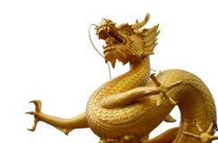 Statua dorata del drago, Phuket, Tailandia fotografia stock