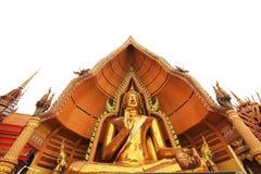 Statua dorata del monaco buddista Fotografia Stock Libera da Diritti
