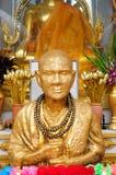 Statua dorata della rana pescatrice a Bangkok, Tailandia Fotografia Stock Libera da Diritti