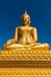 Statua dorata di Baddha Immagine Stock