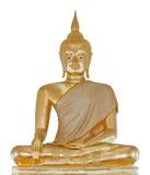 Statua dorata di Buddha Immagine Stock