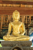 Statua dorata di Buddha Immagini Stock