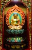 Statua dorata di Buddha Fotografie Stock