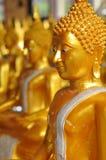 Statua dorata di Buddha, Bangkok Immagine Stock Libera da Diritti
