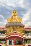 Statua dorata di Buddha in dambulla dorato del tempio Fotografie Stock