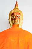 Statua dorata di Buddha in vestito da estate Fotografia Stock