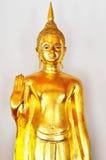Statua dorata di Buddha in vestito da estate Fotografia Stock Libera da Diritti