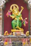 Statua dorata di Ganesha Fotografia Stock