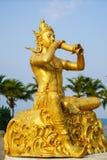 Statua dorata di Phra Aphai Mani Fotografia Stock