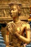 Statua dorata di Ramakien Fotografia Stock Libera da Diritti