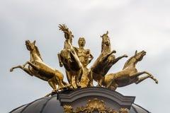 Statua dorata a Eremitage, vecchio palazzo a Bayreuth, Germania, 201 Fotografia Stock