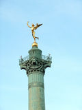 Statua dorata Genie de la Liberte Immagine Stock Libera da Diritti