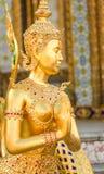 Statua dorata tailandese Fotografie Stock Libere da Diritti