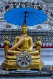 Statua dorata tailandese di Buddha. Fotografia Stock Libera da Diritti