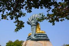 Statua dorata Tailandia del Buddha Immagine Stock