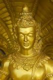 Statua dorata tradizionale di Buddha, Tailandia Fotografia Stock