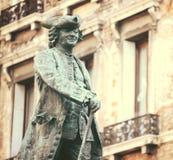 Statua dramatopisarz Carlo Goldoni w Wenecja W?ochy wielki W?oski librettist i zdjęcia royalty free