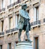 Statua dramatopisarz Carlo Goldoni w Wenecja W?ochy wielki W?oski librettist i obraz royalty free