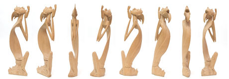 statua drewniana Zdjęcia Royalty Free
