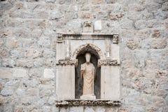 Statua, Dubrovnik Fotografia Royalty Free