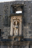 Statua a Dubrovnik Immagini Stock Libere da Diritti