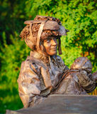 Statua durante il festival internazionale delle statue viventi Immagini Stock