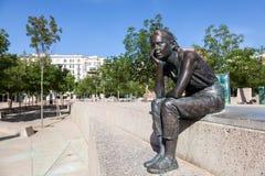 Statua dziewczyna w Girona, Hiszpania Obrazy Stock