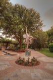 Statua dzwonił kwiat artystą Kathy Spalding przy ogródem Ho Zdjęcia Stock
