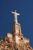 Statua e castello di Monteagudo Fotografia Stock Libera da Diritti