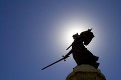 Statua e cielo blu della signora Immagini Stock Libere da Diritti