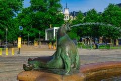 Statua e fontana di Havis Amanda, a Helsinki Fotografia Stock